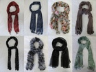 7700 X LADIES SCARVES, CHIFFON, KNITTED, CROCHET, PRINTED. JUST 75P EACH