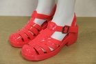 16412 x LADIES HEELED JELLY SANDALS. SIZES 36 TO 41 . PRICE IS JUST 85P PER PAIR