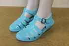 8208 LADIES FLAT JELLY SANDALS JUST 85P EACH