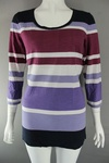 4617 x ladies 3/4 long sleeve striped tops.. just £1.25 each
