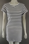 705 x EX H & M LADIES BRETTON STRIPED LONG LENGTH T SHIRTS £1.25 EACH