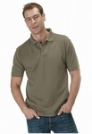 7118 x MENS / UNISEX 240GSM COTTON/POLYESTER PIQUE POLO SHIRT. JUST £1.25 EACH.