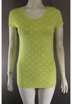 3500 x NEXT LADIES V NECK POLKA DOT YELLOW T SHIRTS. 100% COTTON. PRICE JUST £1.00