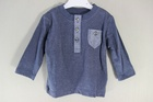 949 x F & F BOYS BABY DENIM LOOK LONG SLEEVE BUTTON TOP.. JUST 65P EACH TAKE ALL