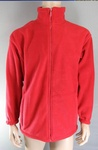 1300 x MENS HEAVYWEIGHT DELUXE POLAR FLEECE JACKETS RED, VERY HIGH QUALITY. £3.00 EACH.