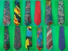 3,000 MIXED MENS POLYESTER NECK TIES - JUST 15P EACH