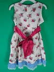 10 x OSH KOSH GIRLS FLOWER  TIE UP DESIGNER SUMMER DRESSES - £4.50 EACH