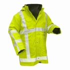 750 CLICK TRADERS OAKWOOD HI VIZ WATERPROOF WORK JACKETS WITH DETACHABLE LINER, BIG SIZES, £8 EACH