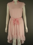 10 X JOHN ROCHA FRILLY LONG ASYMMETRICAL CHIFFON STYLE PINK DRESS. £5.50 EACH