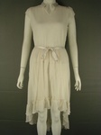 10 X JOHN ROCHA FRILLY LONG ASYMMETRICAL CHIFFON STYLE CREAM DRESS. £5.50 EACH