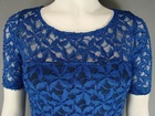 12 X BODY CONTOURED BLACK LINED BLUE LACE DRESS £4.00 EACH