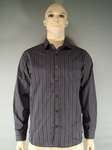 2400 MENS GEORGE PURPLE STRIPED SHIRTS, SIZES S TO 3XL , £2.25 EACH