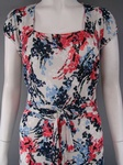 220x  M & S MODE FLORAL LONG  BELTED DRESS £3.00 EACH