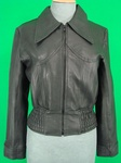 73 LADIES 1970'S VINTAGE STYLE LEATHER BOMBER JACKETS £30.00 EACH
