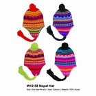 12443 x WINTER RETRO STYLE Nepal hats, BEANIE HATS - 75P EACH