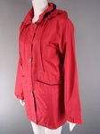 150 EX CATALOGUE LADIES RED PADDED HOODED COAT- JUST £2.00 EACH .