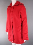 150 EX CATALOGUE LADIES RED PADDED HOODED COAT- JUST £2.50 EACH .