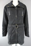 200 x BLACK BELTED 3/4 LENGTH LADIES COATS- £4.00 EACH